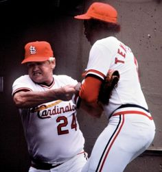 August 26th, 1981. Cardinals Manager Whitey Herzog physically pulls short stop Garry Templeton off the field after giving the middle finger to booing St. Louis fans. After the season Templeton was traded to the Padres for another young short stop named Ozzie Smith. As both Padres and Cardinals fans can attest, the rest was history.