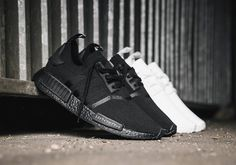 08e81377d adidas NMD R1 Primeknit Triple White and Triple Black Japan Release Date