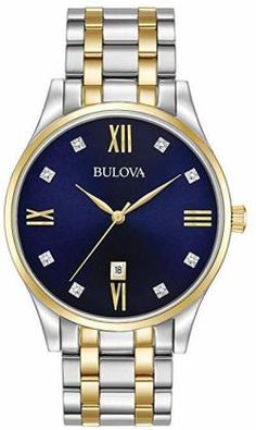 abb228ac6 Bulova Mens Diamonds - 98D130 Bulova Mens Watches, Rolex Watches, Stainless  Steel Watch,