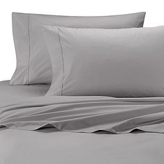 Wamsutta® Cool Touch Percale Twin XL Flat Sheet in Light Grey