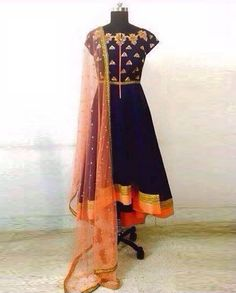 Latest Anarkali Salwar Suits Here is the latest collection of designer customized anarakali suits with different designs and different colors.Fabric: Gorgeo…