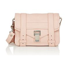 Ps1 mini shoulder bag-light pink, pink by Proenza Schouler. Proenza Schouler Bare Blush shiny grained leather PS1 mini shoulder bag. Signature schoolbag straps at flap front. Sl...
