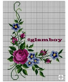 This Pin was discovered by Ayş Butterfly Cross Stitch, Cross Stitch Rose, Beaded Cross Stitch, Cross Stitch Borders, Cross Stitch Flowers, Cross Stitching, Cross Stitch Embroidery, Embroidery Patterns, Hand Embroidery