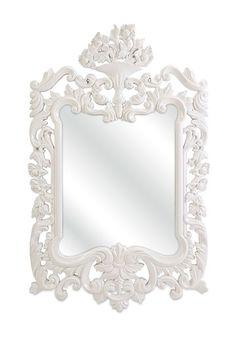Kimber Baroque Mirror - White by Furnish With Color: Accents & Decor on @HauteLook so pretty, for Maddie??