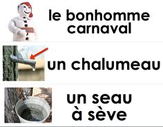 """Le carnaval de Québec"" word strips (printable) February is French cultural week at the school. The entire school partic."
