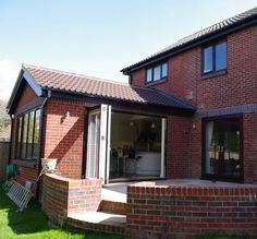 Two storey side extension and single storey rear extension Garage Extension, House Extension Plans, Side Extension, House Extension Design, Extension Ideas, Bungalow Extensions, Garden Room Extensions, House Extensions, Windows Desktop