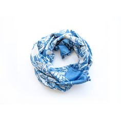 SAMPLE SALE - Indigo Scarf Baagh Scarf blue and white, Block print Cotton Scarf with pom poms SKINNY, Women Accessories - stripe weave on Etsy, $20.00