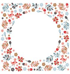 Floral greeting card vector - by Lenlis on VectorStock®