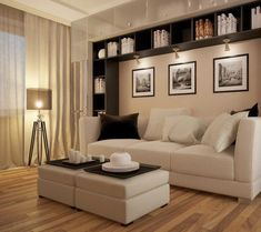 Use these gorgeous modern living room ideas, even if you have a small living room, as a starting point for your next decorating project. Living Room Interior, Home Living Room, Living Room Designs, Living Room Decor, Kitchen Interior, Dining Room, Condo Living, Family Room Design, Interior Design