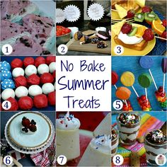 No Bake Summer Treats HoosierHomemade.com