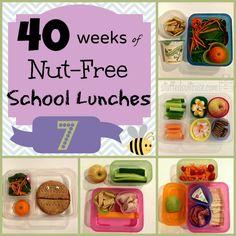 Week 7 of 40 Weeks of Nut Free Kids School Lunches StuffedSuitcase.com pack kid school lunch ideas