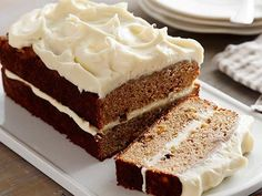 Recipe of the Day: Anne Burrell's Apple Spice Cake with Cream Cheese Frosting Slathered in fluffy cream cheese frosting, Anne's spiced cake comes together with fresh apples, toasted walnuts and golden raisins.