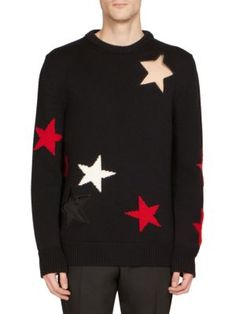 GIVENCHY Star Cotton Sweater. #givenchy #cloth #