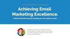 Achieving Email Marketing Excellence [Webinar] #EmailMarketing #EmailMarketingTips #marketing #marketingtips