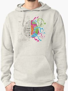 Brain Creativity Illustration by Gordon White   Oatmeal Creative Brain Chemistry Pullover Hoodie for Men Available in All Sizes @redbubble @redbubblecreate  ---------------------------  #redbubble #sticker #brain #creative #creativity #chemistry #nerd #geek #cute #adorable #pulloverhoodie #clothing #jacket #apparel  ---------------------------  http://www.redbubble.com/people/blackbox23/works/23716610-creative-brain-chemistry?asc=u&p=t-shirt&rel=carousel&style=mhoodie