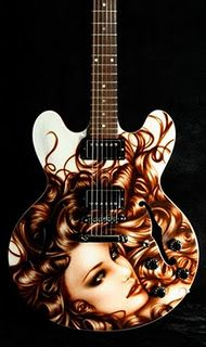 airbrush custom guitar    - <3'd by Stringjoy Custom Guitar & Bass Strings. Create your signature set today at Stringjoy.com  #guitar #guitars #music Guitar Painting, Guitar Art, Cool Guitar, Acoustic Guitar, Guitar Picks Personalized, Custom Guitar Picks, Custom Electric Guitars, Custom Guitars, Wolverhampton