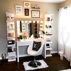 vanity, makeup, and goals image