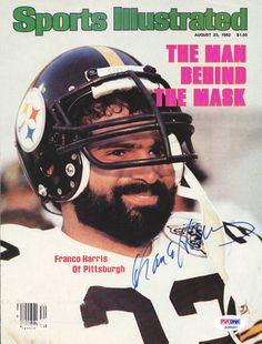 Franco Harris Autographed Magazine Cover Steelers PSA/DNA