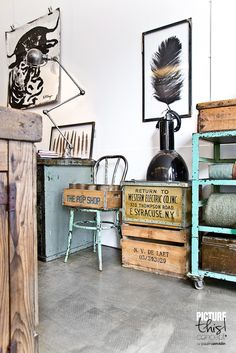 reclaimed wood/ industrial / Harvest and Company, Amsterdam