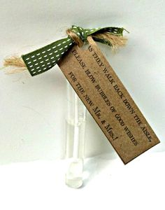 Rustic Wedding Bubble Tags- Blow Bubbles of Good Wishes- Kraft Paper- Wedding Favor on Etsy, $35.00