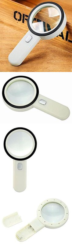 loupes and magnifiers 10x led lighted handheld magnifying glass lens 12light 80mm large viewing