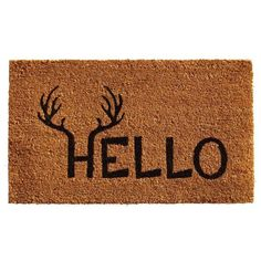 Welcome your family and guests in style this season with this winter inspired door mat.