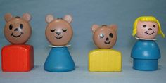 1967 Goldilocks and The Three Bears -Vintage Fisher Price Little People 1970s Childhood, Childhood Toys, Childhood Memories, Fisher Price Toys, Vintage Fisher Price, Antique Toys, Vintage Toys, Vintage Stuff, Goldilocks And The Three Bears