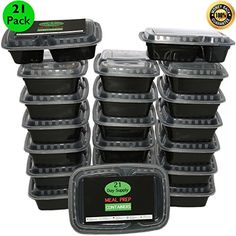a7a87b9aa5d 21 PACK Meal Prep Containers 2 Compartment 24 OZ Microwavable Certified BPA  Free Durable Stackable Microwavable * Visit the image link more details.