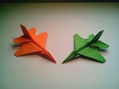 Como hacer un avión de papel F-16 Jet Fighter