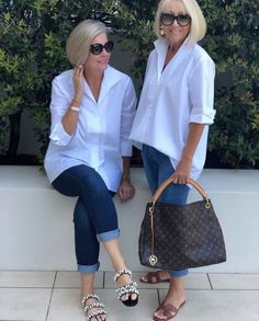 Best Fashion Tips For Women Over 60 - Fashion Trends Fashion Over Fifty, Over 50 Womens Fashion, 50 Fashion, Fashion Outfits, Fashion Trends, Fashion Moda, Fashion Online, White Shirt Outfits, Fall Outfits