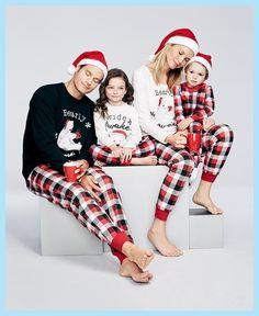 Mother Father And Daughter Son Family Matching Clothes Sets Bear Plaid Pajamas Dad Mom Mama Mommy Baby Christmas Family Look