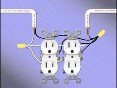 light and outlet 2 way switch wiring diagram electrical 14 two gang receptacles double electrical outlet