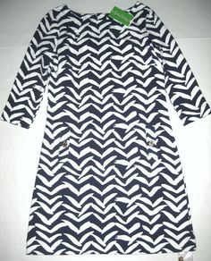 LILLY PULITZER Small Bright Navy Blue CHARLENE I Got Lucky Stretch Dress NWT S #LillyPulitzer #Shift #Casual