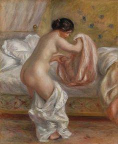 Rising (Le Lever): 1909 by Pierre-Auguste Renoir (The Barnes Foundation, Philadelphia, PA) - Post Impressionism