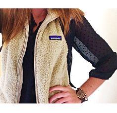 fleece vest #patagonia