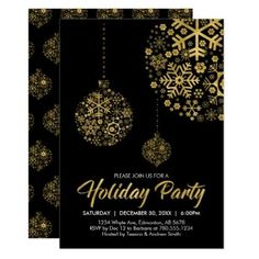 Holiday / Christmas Party Invitation Card - christmas cards merry xmas family party holidays cyo diy greeting card