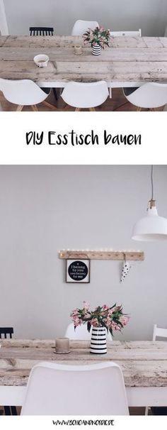 Esstisch selber bauen - DIY Möbel und Wohnen. Esstisch aus Holz