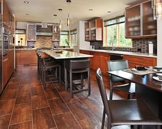 Vivacious Remodeled Kitchen Design; Classic Interior Design: Gorgeous Traditional Kitchen Tile Floor Contemporary Ann Arbor Home