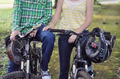 mountain bike engagement pictures | Mountain Biking Engagement Session by M. Houser Photography