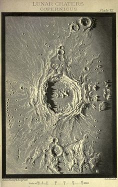 Plate VI. Lunar Craters. Copernicus. 1889.  Was named after him. He is still impacting science today.
