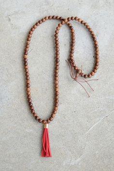 Kalis Tassel Necklace- Red