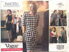 PATTERN Vogue 2920 Jacket unlined Dress straight close fitting Shell Top Skirt Shorts Pants contour waist Size 12-14-16 Career Tamotsu Uncut by LousAtelier on Etsy