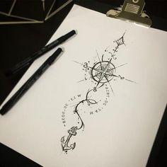anker-tattoo-kompass-ideen-486.jpg (640×640)
