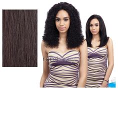 "Naked Nature Wet & Wavy Deep Wave 10""12""14"" - Color NATURAL - Unprocessed Weaving - 6 pcs + closure"