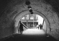 Vyústění tunelu na Vítkově Praha, červenec 1966 Old Pictures, Czech Republic, Prague, Louvre, Clouds, Architecture, Building, Retro, Historia