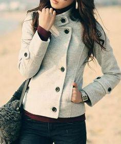 Fashionable+Gray+Coat+w/+Pockets+-+$68