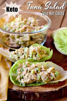 This Keto tuna salad is the perfect way to enjoy a delicious lunch, without any of those pesky carbs to mess up your diet! This Keto tuna salad is the perfect way to enjoy a delicious lunch, without any of those pesky carbs to mess up your diet! Keto Tuna Salad, Avocado Salad, Salad With Tuna, Easy Tuna Salad, Tuna Fish Salad, Tuna Diet, Dairy Free Tuna Salad, Low Carb Tuna Salad Recipe, Tuna Salad Without Mayo