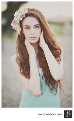 One of Meg's lovely models wearing one of my head pieces :)