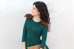 Vestido verde con bolso Caminatta #kissmylook