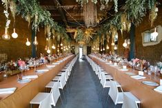 Suspended greenery and Edison-styled light bulbs | Fleur le Cordeur